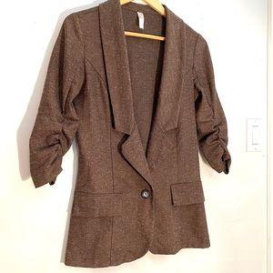 Tweed inspired long blazer